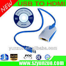 gold plated coated USB 3.O graphic adapter