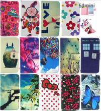 IMD customized pattern PU leather Case for Samsung s4 mini i9190 Soft TPU wallet case