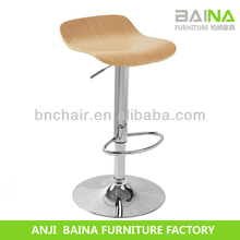 Wholesale swivel gas lift wooden stool chair