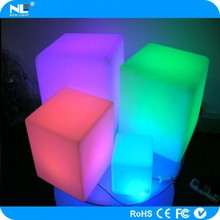 Rechargeable fancy LED cube furniture for bar / night club / wedding / holiday
