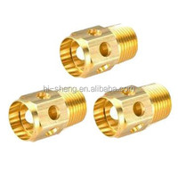 Precision automobile brass spare parts/ OEM automotive brass fittings