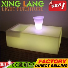hot sale Luminous LED Bar Coffee Table Outdoor Glowing Ice Bucket Tables For Hotel Resurant