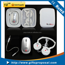 Promotional Gifts Laptop,Mobile Phone Application Travel Set Including Mouse USB Light Headphone
