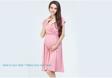 China factory price 100%cotton evening dresses for pregnant women