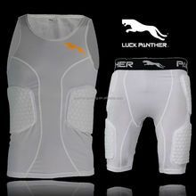 Rugby protection padded top,Football pro combat compression gear, padded compression wear