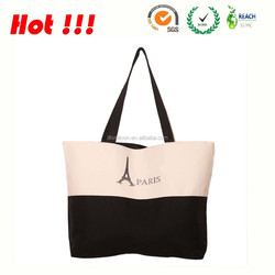 2105 hot selling plain canvas tote bag, blank canvas tote bag, waxed canvas tote bag