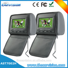 "Thecarvision 7"" Wide screen leather headrest dual screen dvd player for car for Car Entertainment Systems"