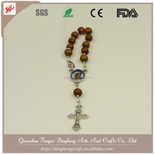 Pope Francis Rose Scented Bead Rosary with the Prayer Wood Rosary Necklace