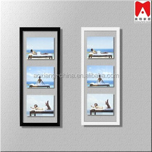 3 opening picture in the glass photo frame with high quality fashion modern design photo frame