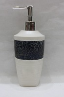 New Fashion White Color Macadam Design Resin Bathroom Lotion Bottle