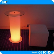 New invention cheap illuminated waterproof LED cylinder bar table
