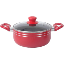wholesale aluminum non-stick two lines and polished cooking pots