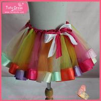 Girls rainbow tutu skirt wholesale, children party dresses, girl's skirt