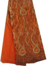 Fashion Design tulle lace french net lace / lace emboridery orange
