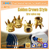 2015 NEW Crown Style Tire Valve Cap, Patent for Unique Design Auto Spare Parts