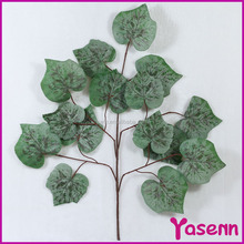 YSF0329 high quality expensive wholesale articificial fabric flocking grape leaf decoration leaves