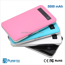 2014 Newest Ultra-thin Mobile Battery Power 5000mAh Power Bank Charger For Iphone5 5S/Samsung/HTC/Digital Camera/Mp3/Mp4