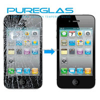 mobile phone accessories factory in china, pureglas tempered glass for iphone 5 screen protector
