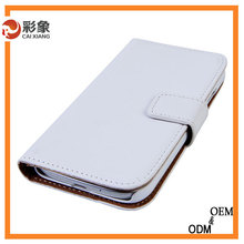 Single color simple stylish fashion leather flip cover mobile phone case for sony xperia e3