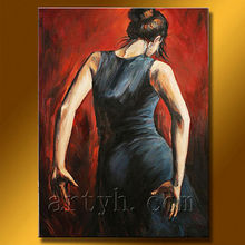 Newest Handmade Modern Impressionist Portrait Oil Painting For Decor