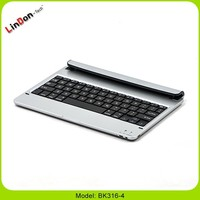 Factory Price bluetooth French keyboard for ipad air, French layout keyboard case for ipad 5, aluminium French keyboard for ipad