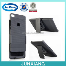 New and hot products cellphone case for Huawei p8 with belt clip kickstand