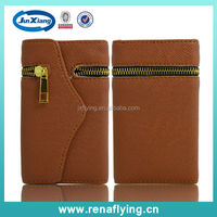 China Manufacture Wallet Mobile Phone Case for i5