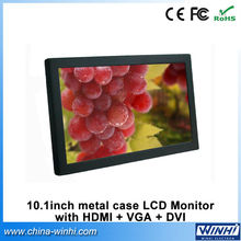 10 inch advertising led display screen mini LCD monitor with HDMI, VGA, DVI