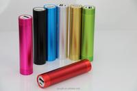 cylinder portable mobile power bank 2600mAh for Christmas gifts