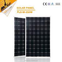 High quality high efficiency 250w mono solar cells, solar panel