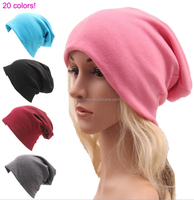 Autumn & Winter Unisex Solid Color Knitting Ear Warmer Hat Colorful Soft Cotton Hats Cheap Hats Wholesales