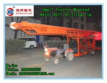 small trailer type portable 300m water well drilling rig