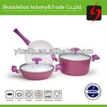 2015 New design eco friendly nonstick cookware set,ceramic cookware