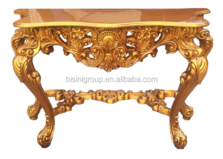 royal golden imperial rococo sculpture console table antique fran ais rococo style salon. Black Bedroom Furniture Sets. Home Design Ideas
