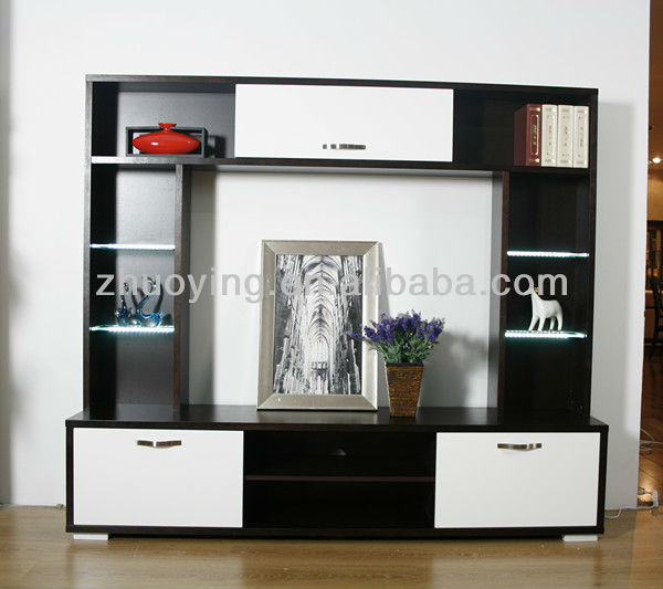 Led Stand Designs : Modern led tv stand furniture design view