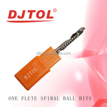 One flute spiral ball bits(A series) engraving and milling cutter