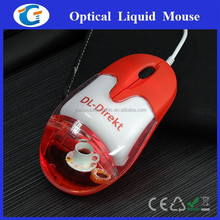 3d wired optical liquid mouse aqua oil mouse for gift