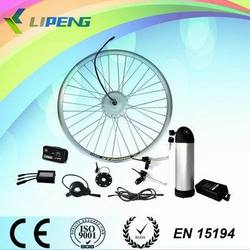 DIY E-bike kit! BLDC front drive geared 36V 250W Electric bicycle hub motor kit with Li-ion battery and LCD display