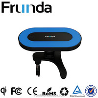 Innovative Design China plant supply Frunda Portable Qi Universal wireless electromagnetic induction car charger for phones