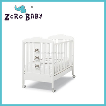 Baby Wooden Cot Bed Crib Coccolo bianco/Baby bowknot cot