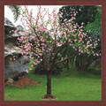 Novo produto flor artificial com led light garden decoraiton levou ao ar livre luz da árvore de cereja lâmpada