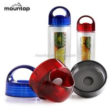Hot as fire Tritan sport water bottle plastic new, Fruit infusion bottle water bottle, BPA free