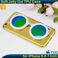 3D Sunglass Shape Soft Mobile Phone Cover for iPhone 6 6S TPU Case with Stand Function