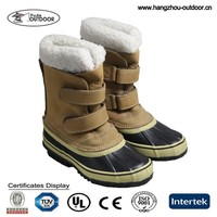 Kids Leather Snow Boots, Stylish Winter Snow Boots For Children, Cheap Pac Boots For Snow