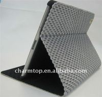 Furry Leather Cover with Hard Back Case for iPad 2