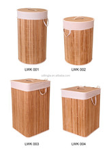 China Supplier Foldable Bamboo Baskets Handmade Home Laundry Bags