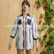 Nuevo modelo de estilo de la camisa mujeres blusa formal diseños