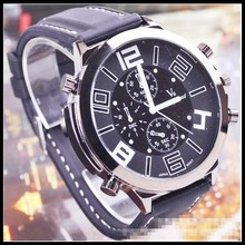 2015 New V6 Super Speed Men Military Watches PU Leather Strap Quartz Wristwatches Hot Selling Clock Free Shipping
