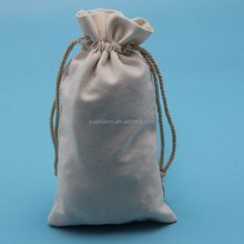 free samples provided organic cotton cosmetic bag muslin cotton drawstring packing bags wholesale