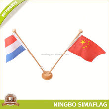 On-time delivery factory directly gold supplier for desk flag